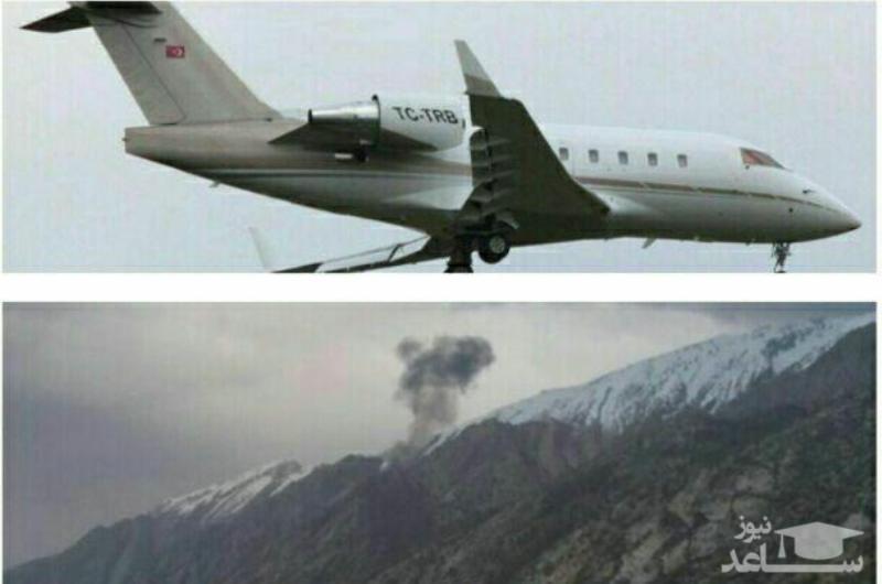 اولین عکس از محل سقوط هواپیمای ترکیهای