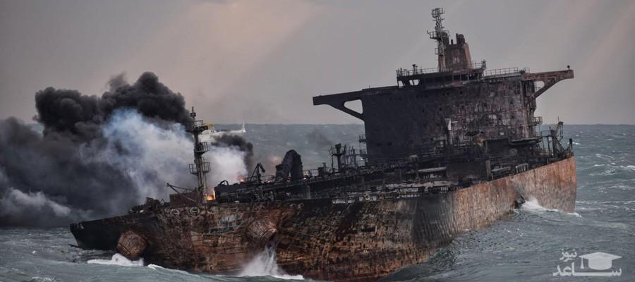 (فیلم) اولین تصاویر منتشر شده از کشتی سانچی در اعماق دریا