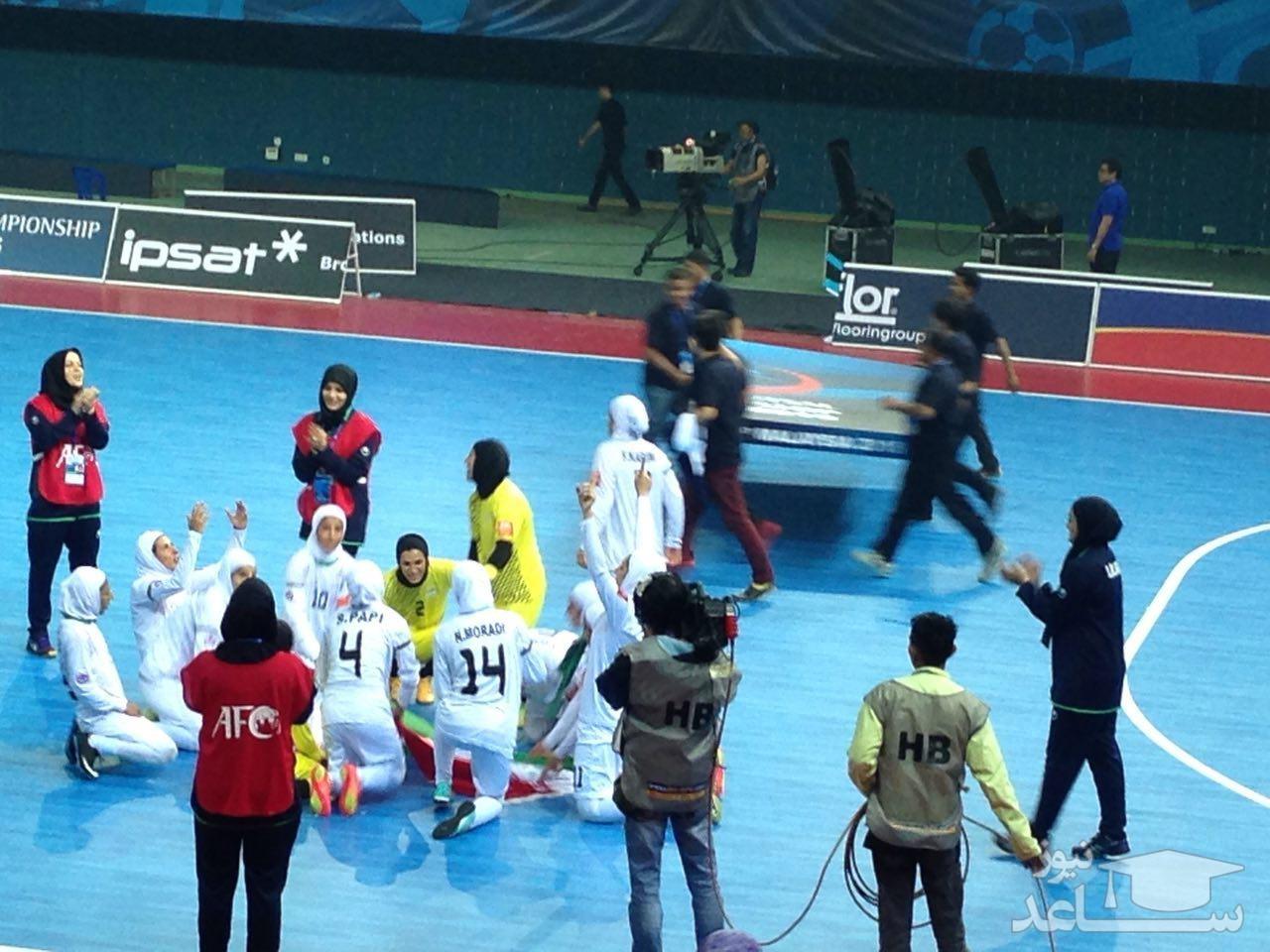 فینال فوتسال بانوان آسیا : ایران 5-2 ژاپن