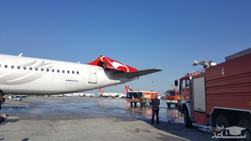 (فیلم) برخورد 2 هواپیما ایرباس در باند فرودگاه آتاتورک