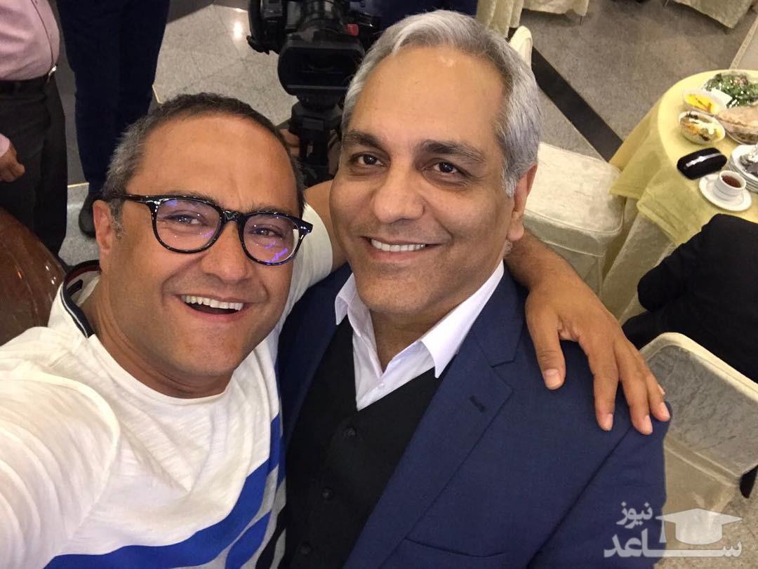 (ویدئو) هدیه مهران مدیری به رامبد جوان