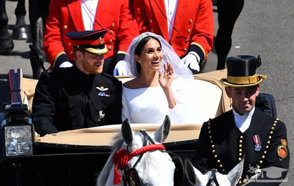 (عکس)مراسم ازدواج شاهزاده هری و مگان مارکل