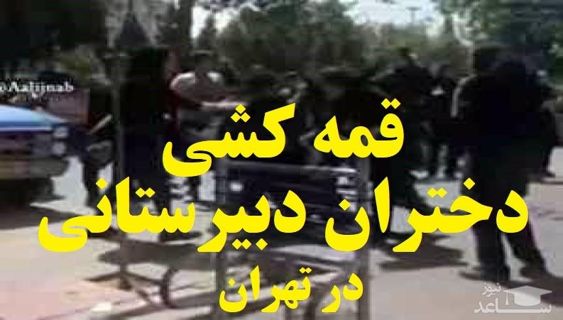 (فیلم) قمهکشی دختران دبیرستانی در خیابان!