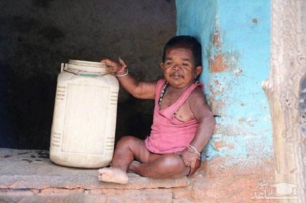 (عکس) کوچکترین پیرمرد دنیا