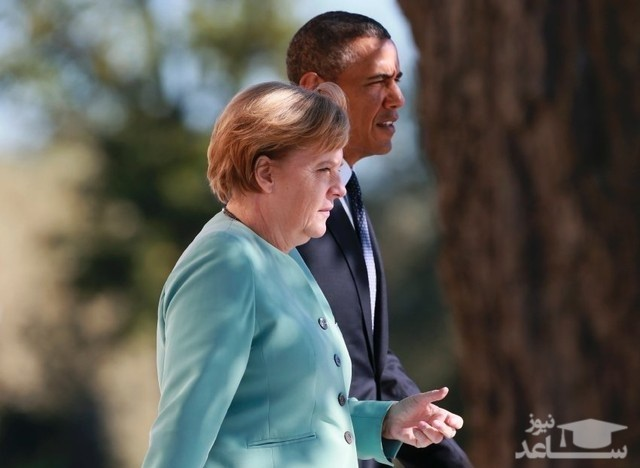 (عکس) جنجال عکس منتشر شده از اوباما و مرکل!