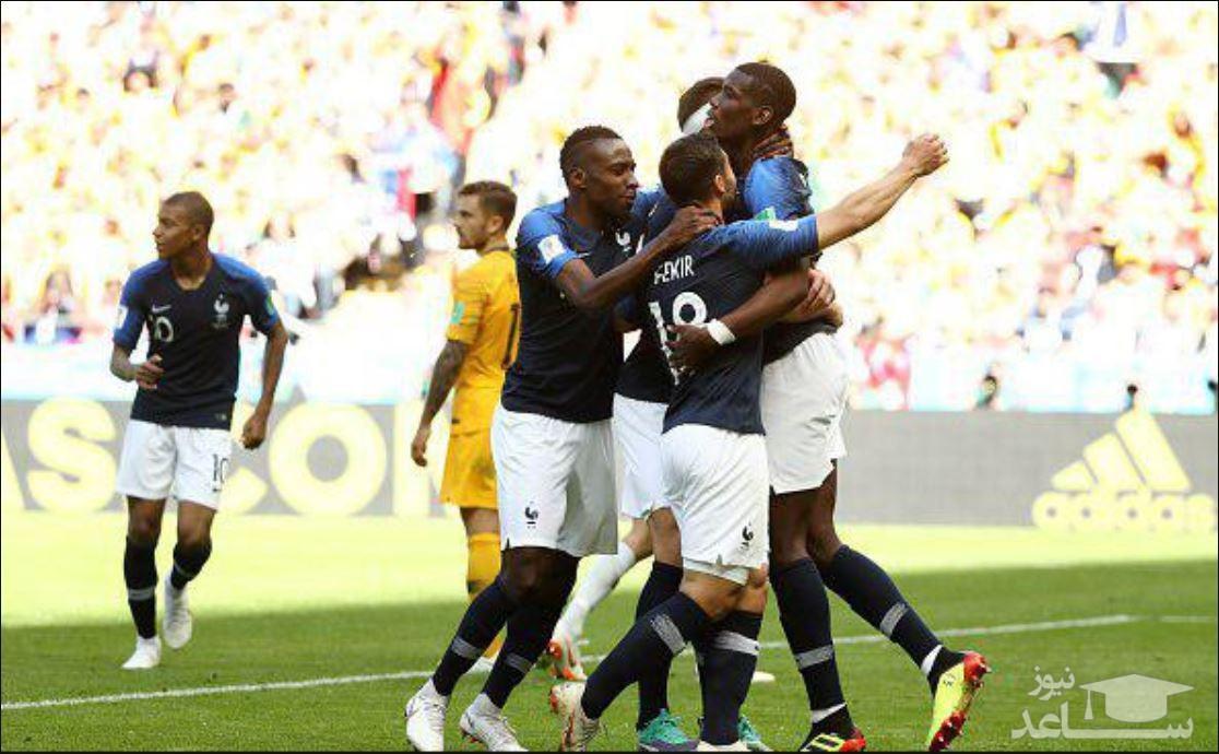 فرانسه 2 - استرالیا 1 (جام جهانی 2018)