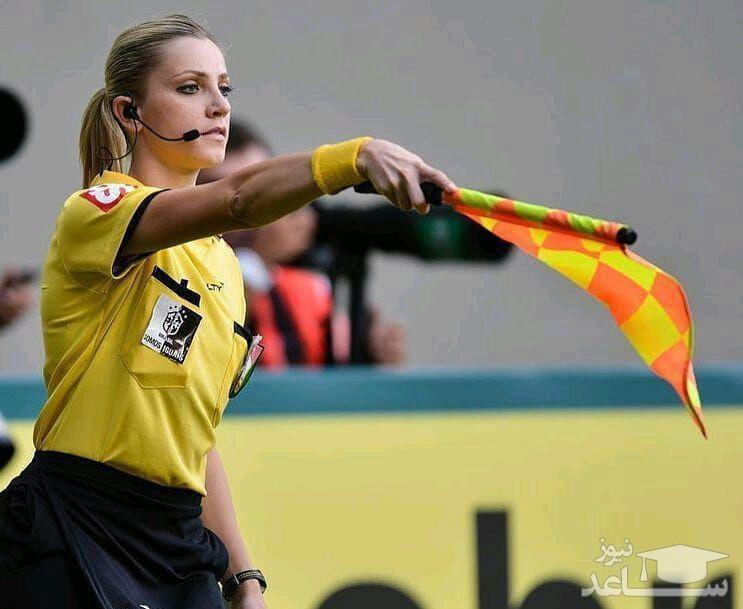 تصاویرفرناندو کلومبو اولین کمک داور زن در جام جهانی