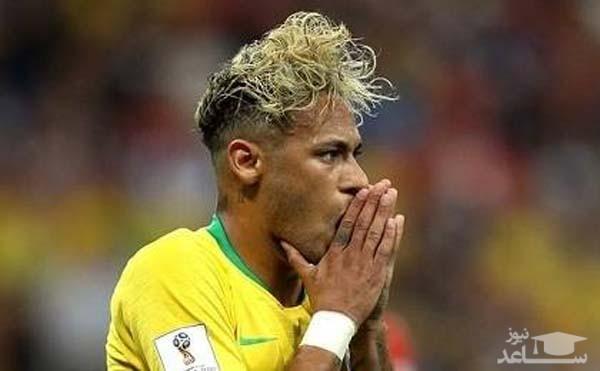 تصاویری از ناراحتی نیمار و برزیلی ها پس از توقف برابر سوئیس