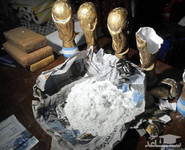 تصاویری از جاسازی مواد مخدر در مجسمه های جام جهانی
