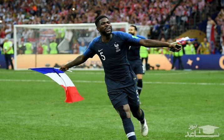 (عکس) خوشحالی تیم فرانسه در فینال جام جهانی 2018