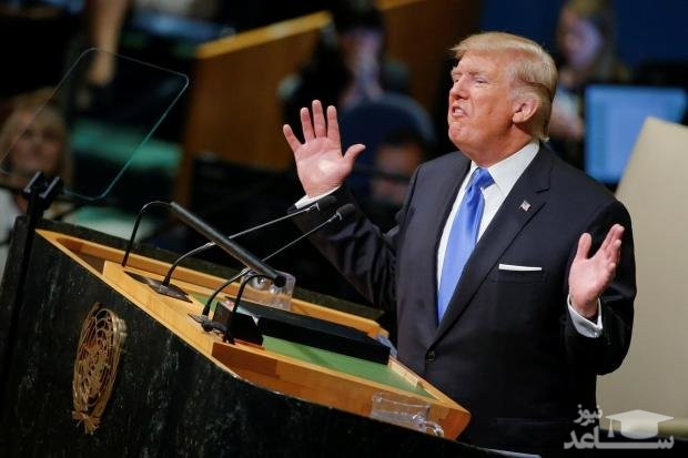 (فیلم) وحشت ترامپ از ندای الله اکبر حین سخنرانی