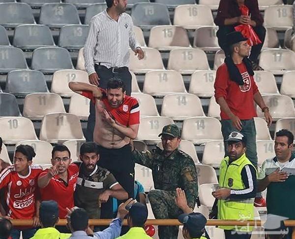 درگیری در استادیوم آزادی