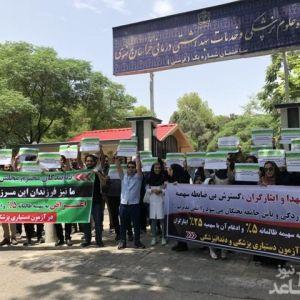 تجمع اعتراضی شرکتکنندگان آزمون دستیاری پزشکی در اعتراض به سهمیه آزمونها