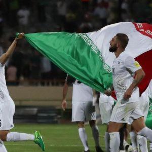 بازیکنان ایران و مراکش قبل از بازی (جام جهانی 2018)