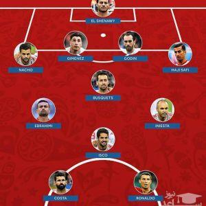 2 ایرانی در تیم منتخب روز دوم جام جهانی