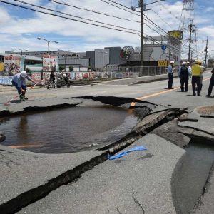 فیلمی از لحظه هولناک شروع زلزله در ژاپن