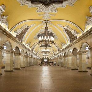 (عکس) زیباترین ایستگاه های مترو جهان در شهر مسکو