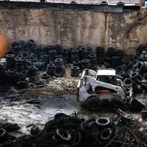 (فیلم) آتش سوزی در بازار لاستیک خیابان امیرکبیر تهران