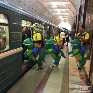 (عکس) لباس های جالب و دیدنی برزیلی ها در مسکو