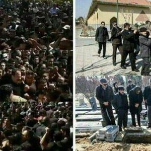 (عکس) مقایسه دو مراسم خاکسپاری در ایران!