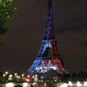 (عکس) حال و هوای برج ایفل پس از پیروزی فرانسه