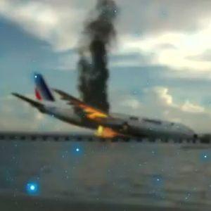 (فیلم) تصویربرداری مسافر از هواپیمای درحال سقوط!