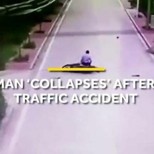 (فیلم) تصادفی که سوژه رسانه ها شد