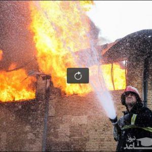 (فیلم) آتش سوزی در نزدیکی پالایشگاه تهران!