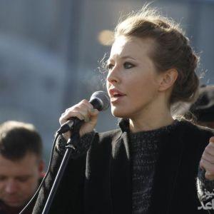 کسنیا سابچاک خبرنگار روس، خط قرمز روسها را رد کرد