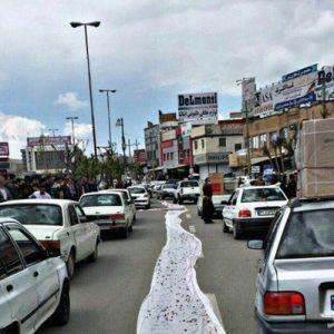 (عکس)مرزنشینان سفره خالیشان را در خیابان پهن کردند!
