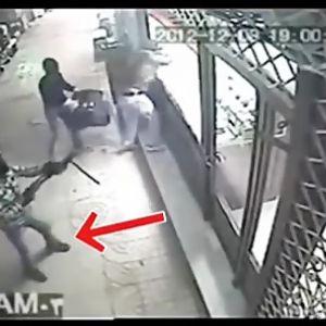 (فیلم) لحظه سرقت مسلحانه بهمن ورمزیار