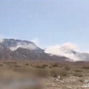 (فیلم) ریزش کوه نمک جاشک بوشهر بعد از زلزله 5.9 ریشتری