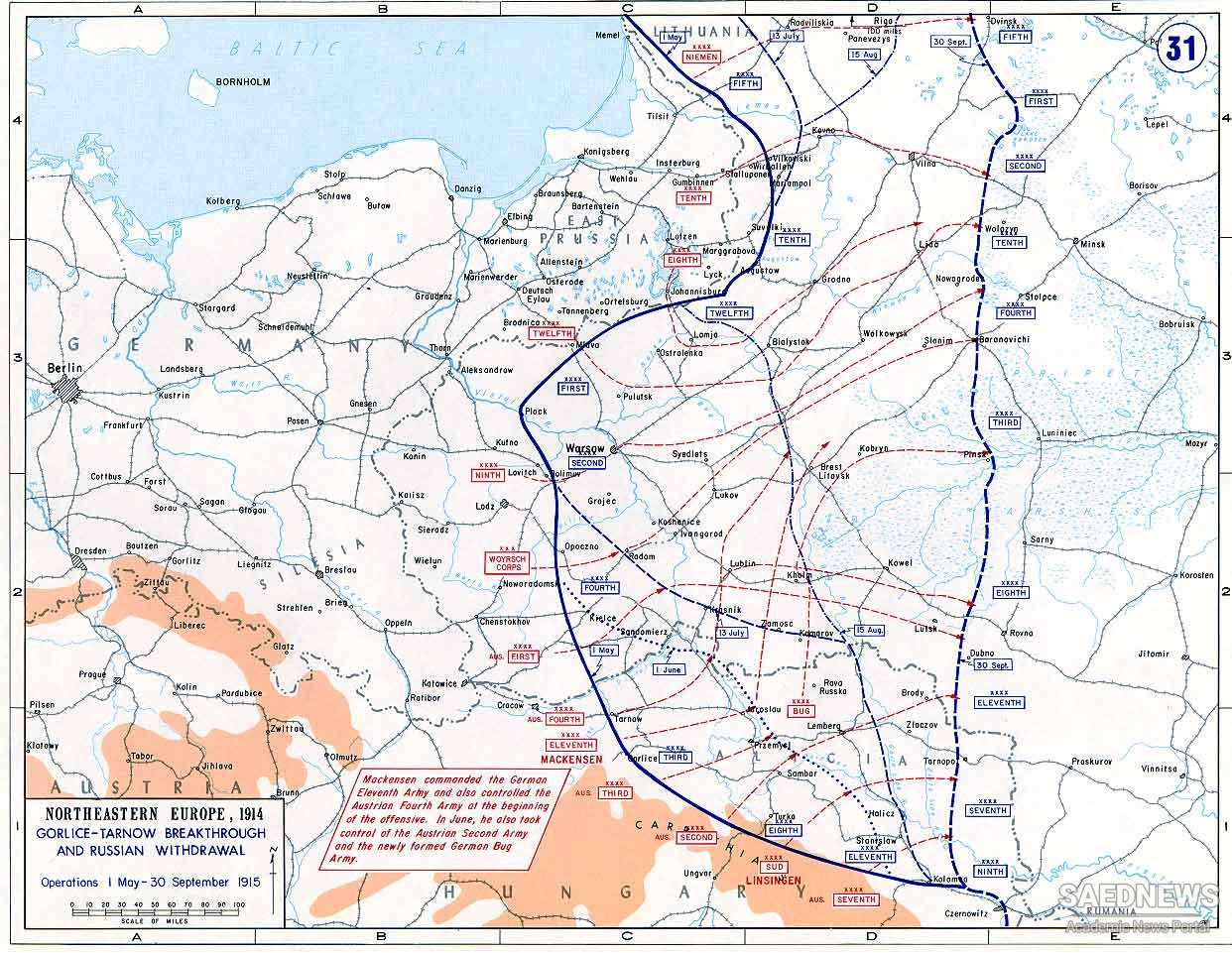 The Eastern Front in 1915