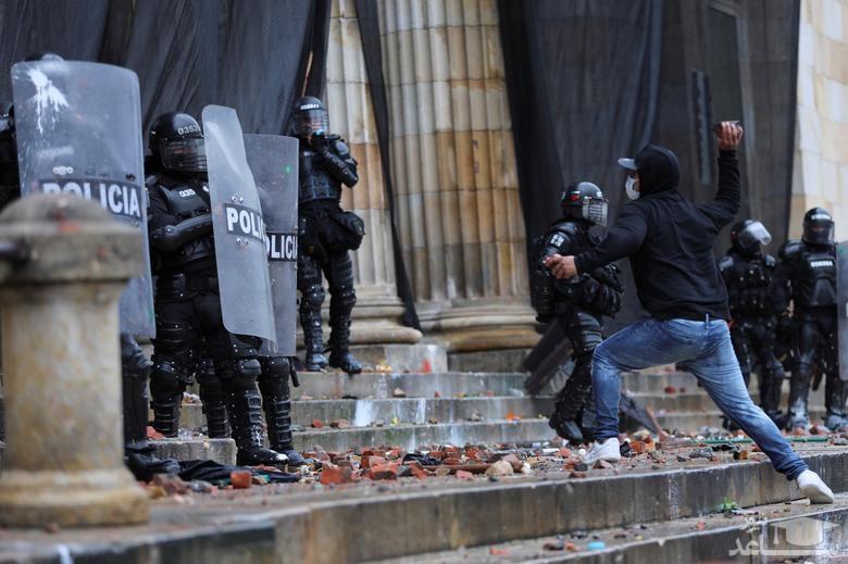 تظاهرات خونین در پایتخت کلمبیا
