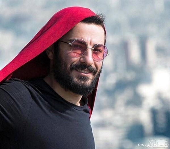 لباس بامزه نوید محمدزاده در یک مراسم سوژه شد