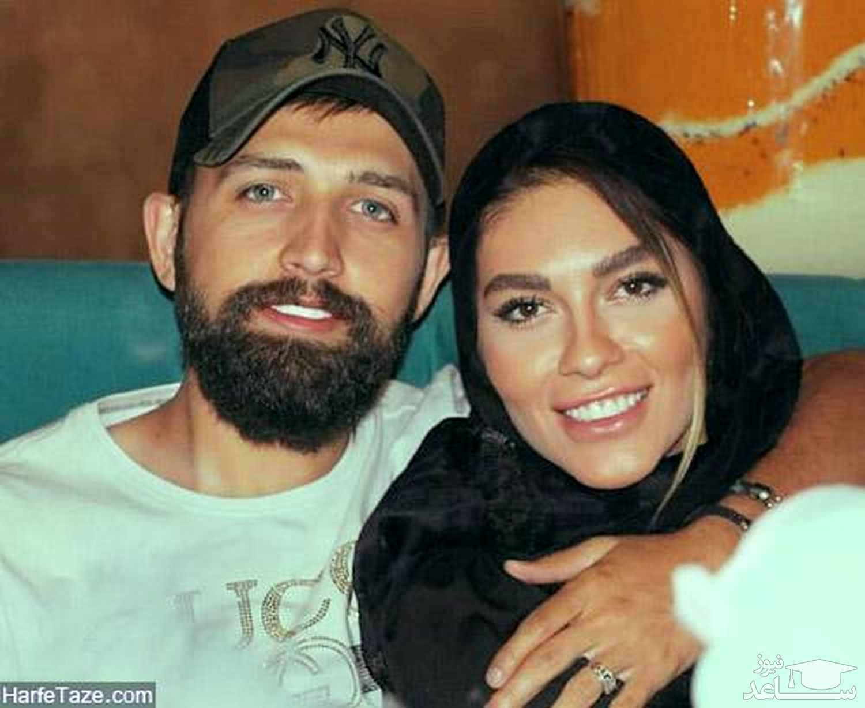 حرکت زشت محسن افشانی و همسرش در آسانسور