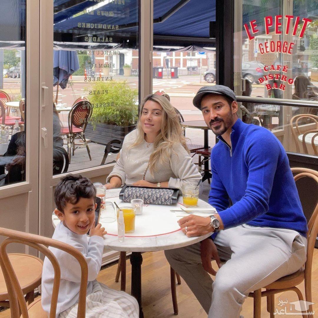 رستوران گردی رضا قوچان نژاد با خانواده اش