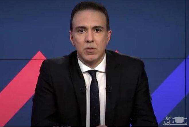 اولین اجرای مزدک میرزایی در شبکه ایران اینترنشنال با کراوات و کت شلوار! + فیلم