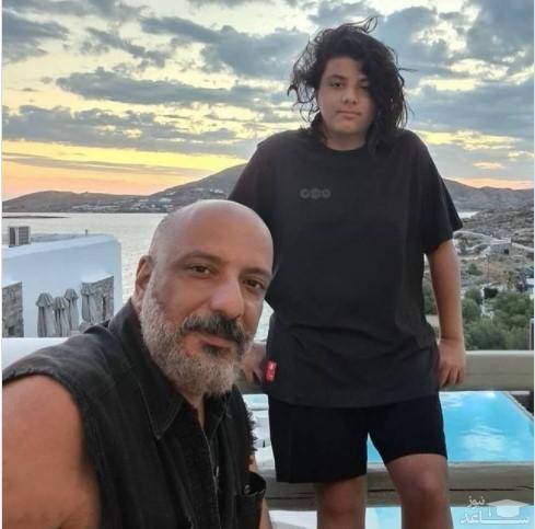 امیر جعفری و پسرش
