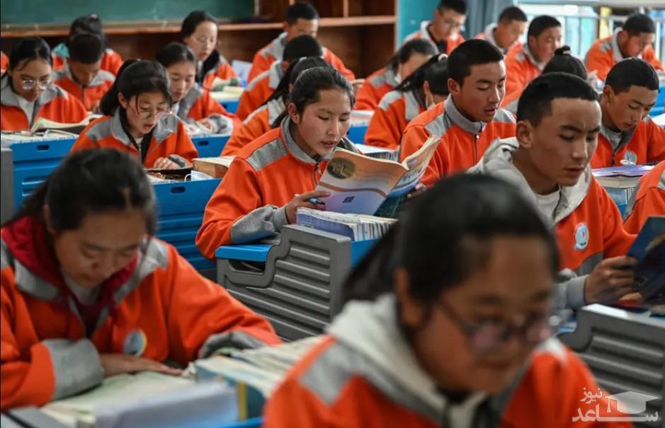 دانش آموزان در کلاس درس