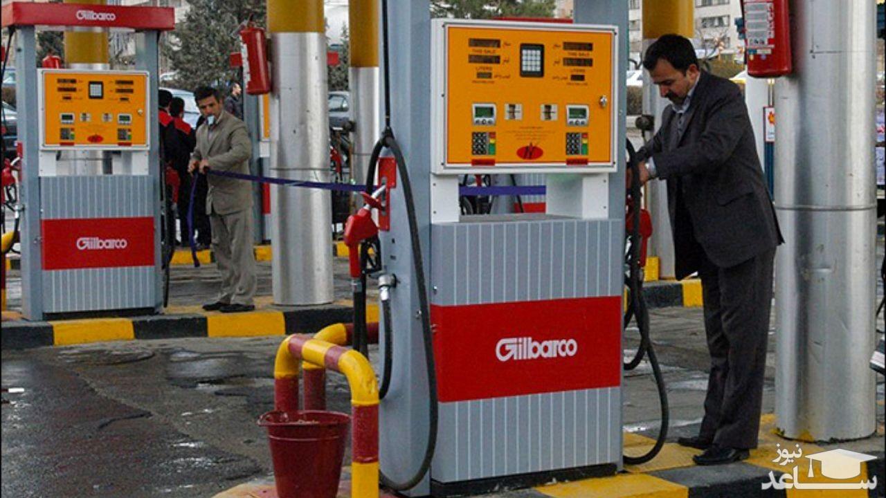 توزیع بنزین در سراسر کشور متوقف شد
