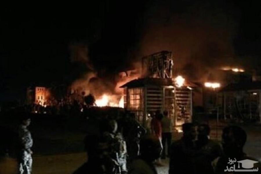 (فیلم)آتشسوزی مهیب در لبنیات؛ «میهن» منفجر شد