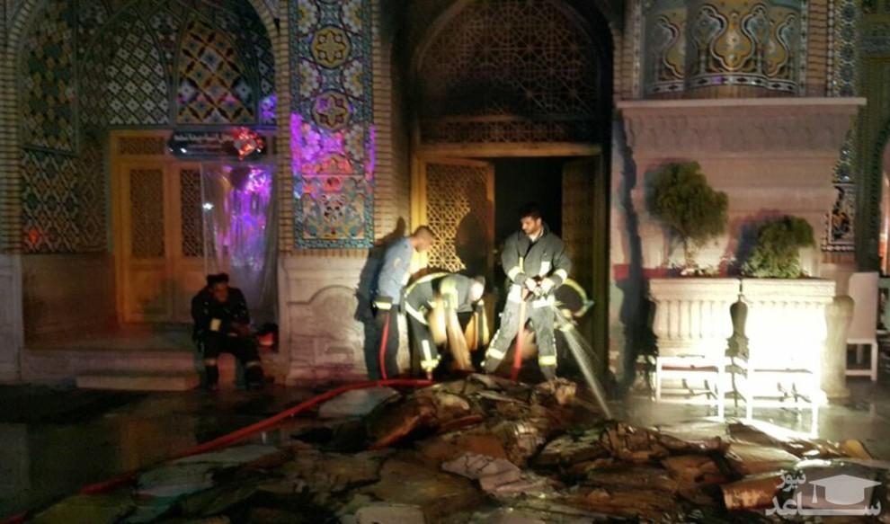 (عکس) حرم حضرت معصومه (س) بعد از مهار آتش سوزی