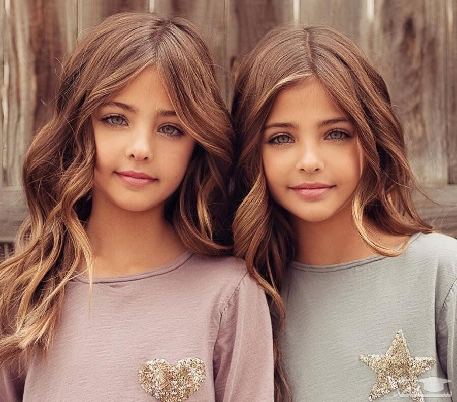 زیباترین دوقلوهای دختر جهان با فالوئر میلیونی