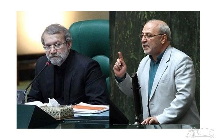 درگیری لفظی لاریجانی و حاجی دلیگانی در مجلس