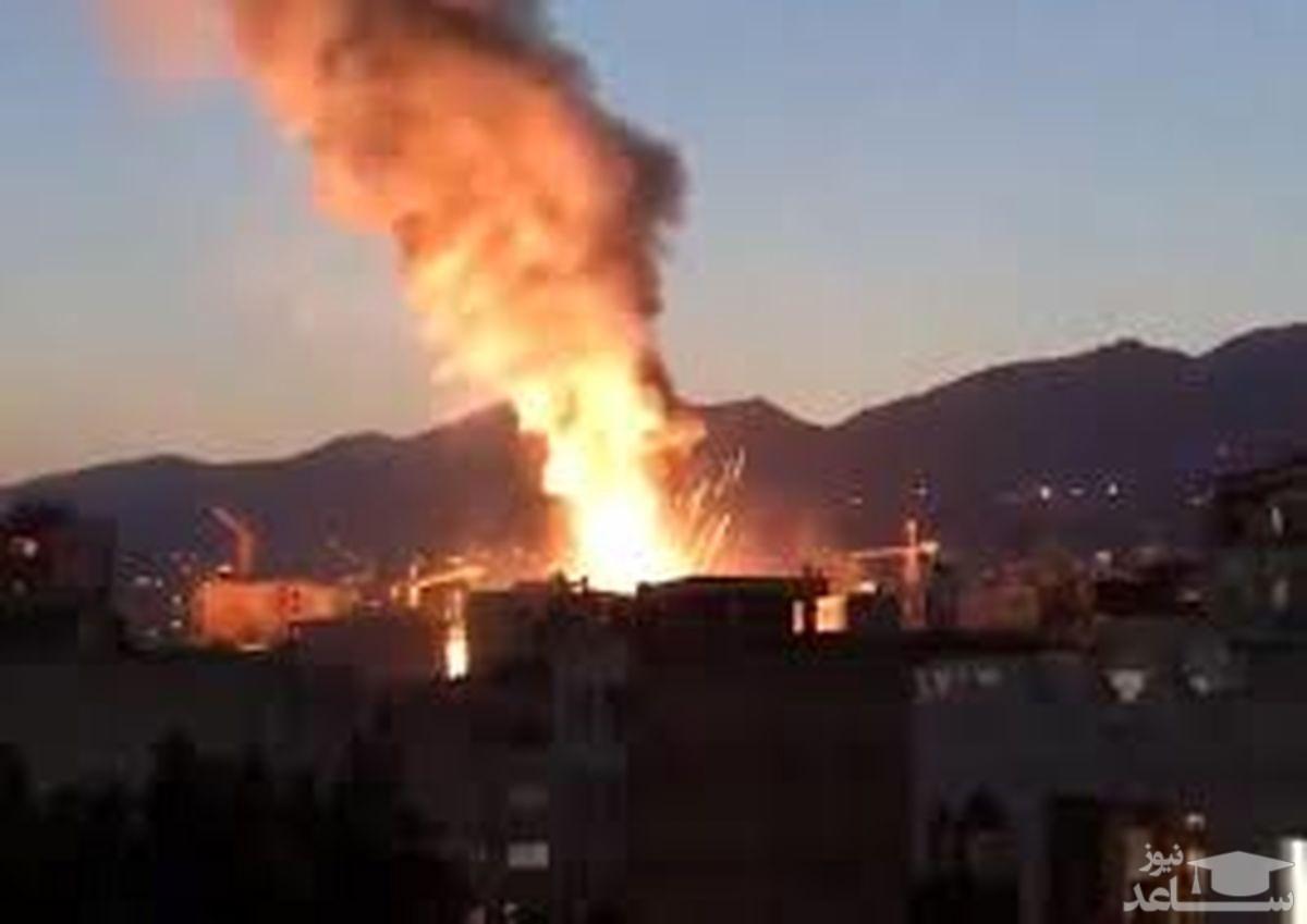 لحظه هولناک انفجار مرکز درمانی سینا که تهران را داغدار کرد