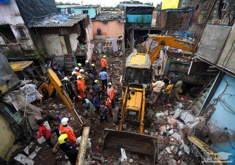 11 کشته در ریزش ساختمانی در شهر بمبئی هند/ رویترز