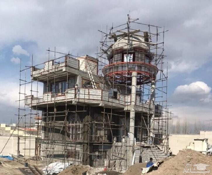 تخریب ویلای فوق لاکچری 25 میلیاردی در تبریز
