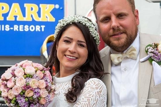 مراسم ازدواج زنبندباز در آسمان + تصاویر