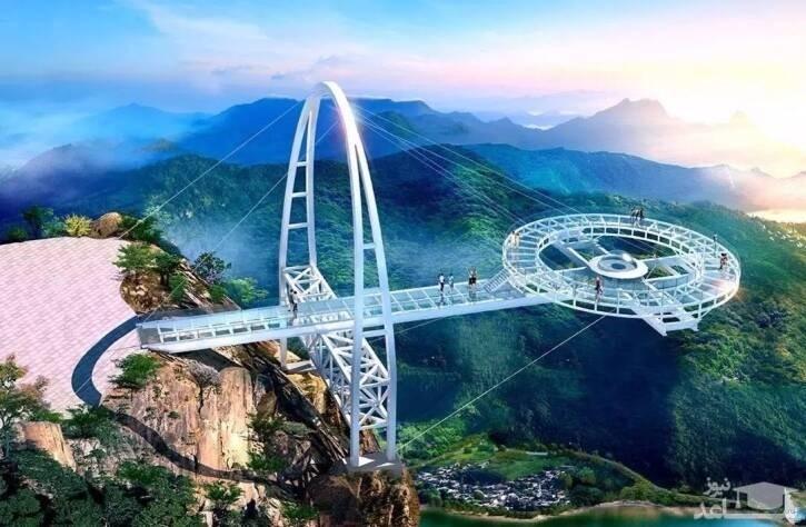 (عکس) ترسناکترین پل شیشهای جهان